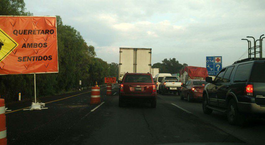 Reparaciones En La Carretera México Querétaro Afectan